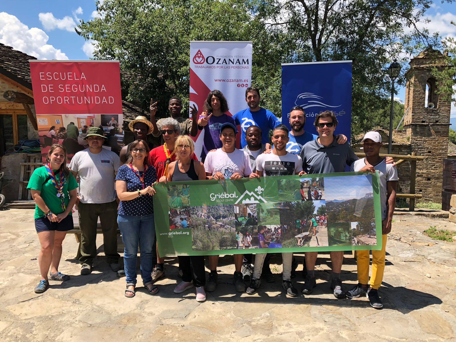 Fundación Sesé, Fundación Scout Griébal y Fundación Federico Ozanam colaboran un año más para llevar a cabo un campo de trabajo en el Centro Scout Griébal