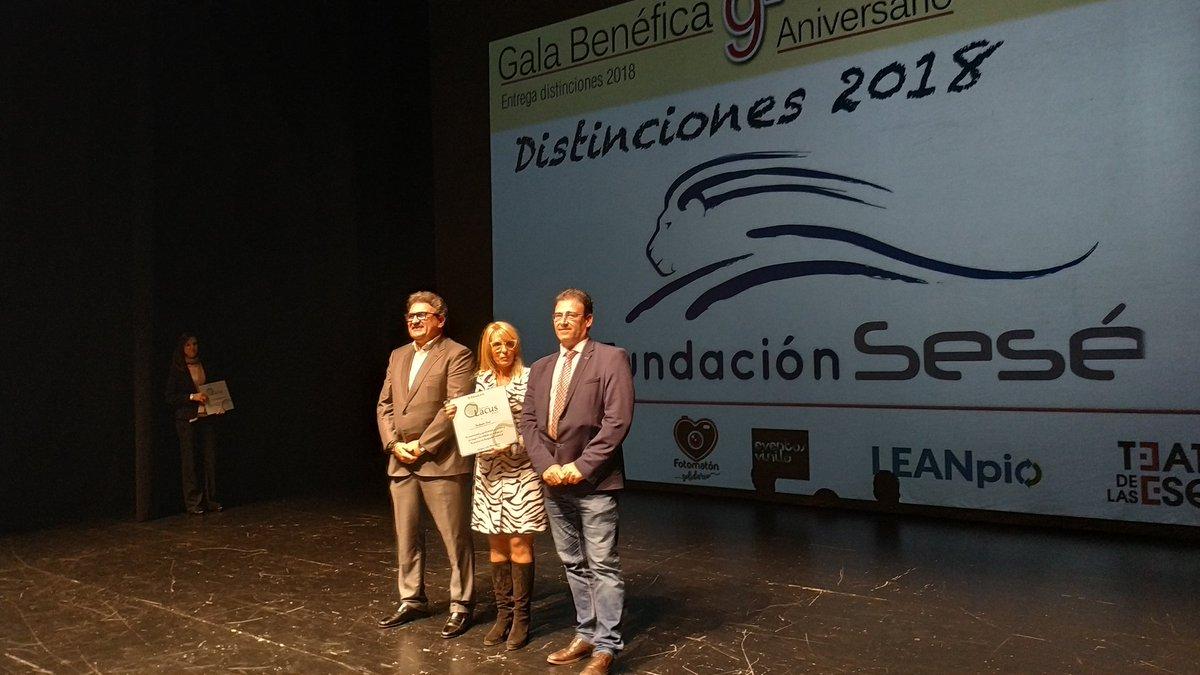 Fundación Sesé recibe distinción en la Gala anual de Lacus Aragón