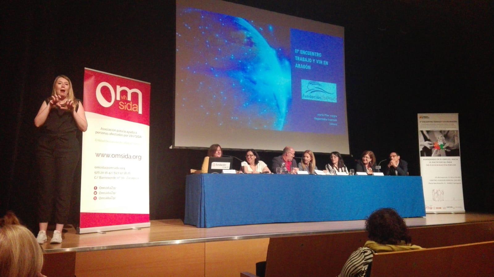 Fundación Sesé participó en el II Encuentro de trabajo y VIH en Aragón